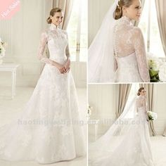The newest fashion long sleeve lace wedding dresses 2013, View long sleeve wedding dresses, Haoting Product Details from Suzhou Haoting Garments Co., Ltd. on Alibaba.com