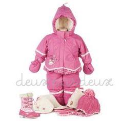 Deux Par Deux girls 2pc snowsuit - TrendyBrandyKids - European trendy clothes for boys and girls. Catimini, Desigual, Deux par Deux, Diesel, Halabaloo, Ikks, Jean Bourget, Marese, Me Too, Mim Pi, Pom Pom Casual.
