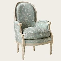 Swedish!  The Gustavian Bergere Chair.  We love it! Product in photo is from www.wellappointedhouse.com