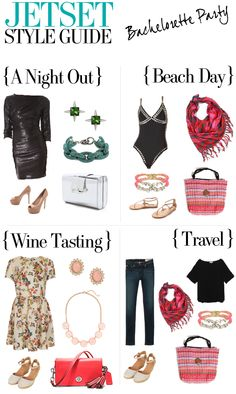 What to pack for a bachelorette party - http://www.hithaonthego.com/jetset-style-guide-bachelorette-party/