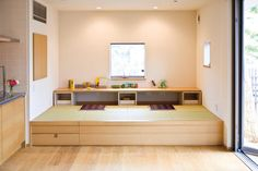 Tatami office as part of a lliving room Japanese Living Rooms, Japanese Home Decor, Small Rooms, Small Spaces, Tatami Room, Japan Interior, Traditional Japanese House, Creative Home, Apartment Design