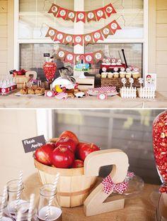 farm dessert table