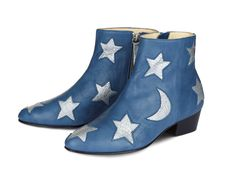 """High Bootie Moon & Stars"" von Black Velvet Circus x Nine to Five in ""Blue Moon"", um 339 Euro"