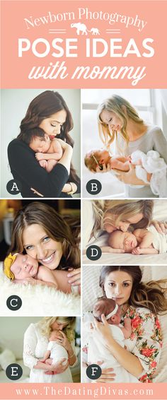 Precious Newborn Photography Pose Ideas with Mommy