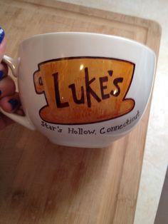 Coffee Mug Luke's diner Gilmore Girls pictured in by MugThugs