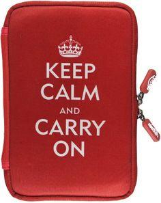 NeoSkin Kindle Fire Zip Sleeve, Keep Calm and Carry On (Neoprene Kindle Fire Cover, Kindle Fire Case)