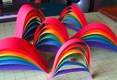 rainbow crafts - rainy day wishes!