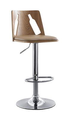 Fun bar stools - love the bottle shaped cutouts!