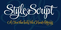 Style Script - Webfont & Desktop font « MyFonts  Plain, script & formal.  Simplicty of 50s and 60s advertising with up to date design characteristics