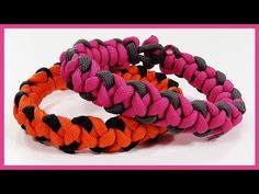 "Paracord Bracelet: ""Butterfly Kisses"" Bracelet Design Without Buckle - YouTube"