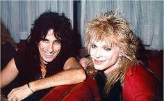 Alice Cooper and Michael Monroe of Hanoi Rocks