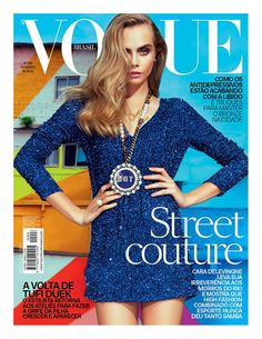 Cara #Delevingne for Brazilian #Vogue. Amazing cover. These expressive eyebrows, her whole character.