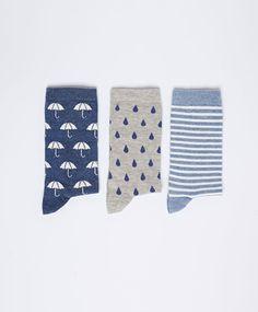 Lot chaussettes parapluie gouttes - OYSHO 8€