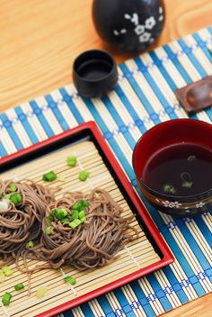 How to prepare this delicious Japanese dish: Soba Noodles with homemade Soba sauce). Enjoy!