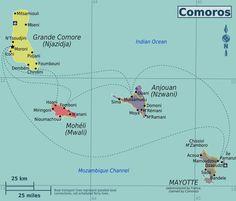 comoros political map