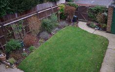 This was my boring suburban garden. Outdoor Rooms, Sidewalk, Garden, Garten, Side Walkway, Lawn And Garden, Walkway, Gardens, Outdoor Spaces