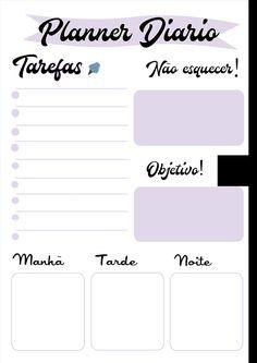 Planner para quadro, imprima em folha A4 Veja o vídeo do tutorial e presenteie.  #planne #molde #organizador #diario