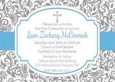 Boy 1st Holy Communion Invitations #invitations #communion