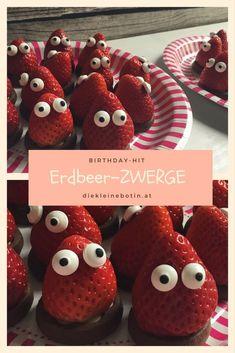 feiner Snack mit Erdbeeren: Die Zwerge. tolles Mitbringsel für Kindergarten und Krippe!