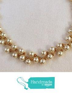 Handmade Wire Wrapped White Pearl Necklace http://www.amazon.com/dp/B017FFIRRK/ref=hnd_sw_r_pi_dp_7iunwb0G2YC9Z #handmadeatamazon