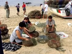 Portugal.  Work for fishing.