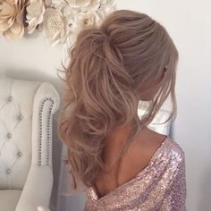 Elegant Ponytail Hairstyles 2020 Elegant Ponytail Hairstyles for Special Occasions Fashion Formal Hairstyles, Braided Hairstyles, Wedding Hairstyles, Elegant Ponytail, Curly Ponytail, Long Ponytails, Long Hair Wedding Styles, Big Wedding Hair, Hair Videos