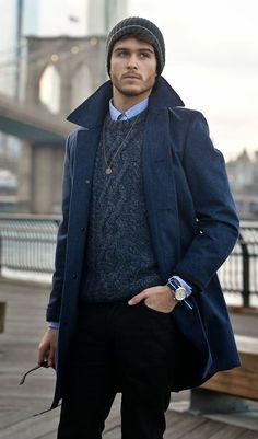 画像 : 〈メンズファッション〉ネイビーのジャケット・コートがおしゃれな秋冬コーデ集 - NAVER まとめ