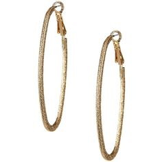 Natasha Accessories Long Oval Hoop Earrings ($9.97) ❤ liked on Polyvore featuring jewelry, earrings, gold, oval hoop earrings, hoop earrings, gold hinged earrings, gold jewellery and yellow gold earrings