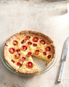 Cherry Tomatoes and Pecorino Quiche Recipe