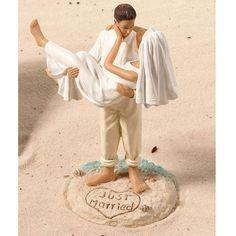 Just Married Beach Sand Wedding Couple Figurine