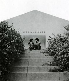Miriam Schapiro and Judy Chicago outside of Womanhouse 1971