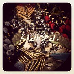 #sneakpeek #klaidra #jewelry #ethnic #bohemian #gypsy #handmade #designers #boho #klaidrajewelry #fw15 #fall #winter #velvet #feathers #bohojewelry