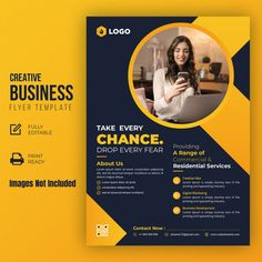 Flyer And Poster Design, Graphic Design Flyer, Creative Poster Design, Creative Flyers, Creative Business, Business Professional, Template Brochure, Business Flyer Templates, Flyer Design Templates