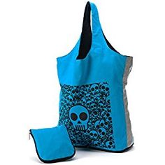 Reuseit Reflective Halloween Trick or Treat Reusable Tote Bag, Skulls - Fold and Zip for Easy Storage - 100% Cotton - Made in India - Eco Friendly - 15 L x 17 W x 6 H Inches Trick Or Treat Bags, Reusable Grocery Bags, Halloween Trick Or Treat, Best Sellers, Treats, Shopping Bags, Make It Yourself, Easy Storage, Skulls