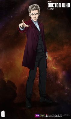 "The Twelfth Doctor | Velvet Jacket Costume | Black-Blue | Fan Area ""Experimental Relative Dimension"""