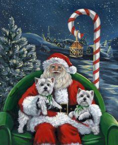 Westies With Santa