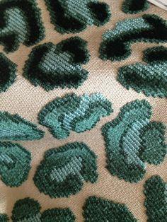 pearson fabric - blue leopard