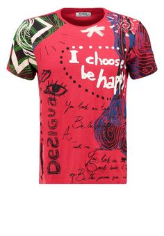 Desigual - T-Shirt print - rot
