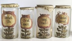 Wonderful old apothecary jars, circa 1700