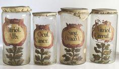 Wonderful old apothecary jars, circa 1700