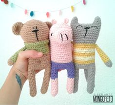 Combo 3 amigurumi patterns!