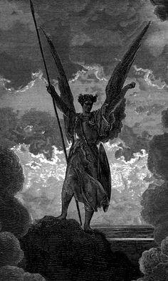 "DORÉ, Gustave Illustration for John Milton's ""Paradise Lost"" 1866 Engraving Ed. Classic Art, Psychedelic Art, Esoteric Art, Satanic Art, Renaissance Art, Dark Art, Art Wallpaper, Angel Art, Occult Art"