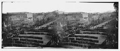 In this image from the U. Library of Congress, the funeral procession for U. President Abraham Lincoln moves down Pennsylvania Avenue on April in Washington, D. The absence of Lincoln was one of the factors that allowed Reconstruction to fail. American Revolutionary War, American Civil War, American History, Historical Romance, Historical Fiction, World War I, World History, Facts About America, Rare Images