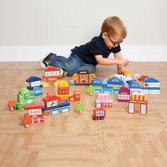 City Building Blocks with Storage Container