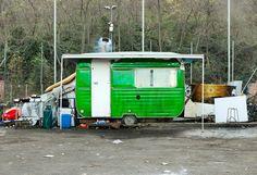 mimmo rubino explores boundaries of visual identity with painted caravans - designboom | architecture