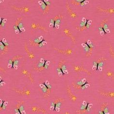 Jersey Papillons x10cm/ Rose Réf 23001
