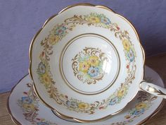 Antique Royal Stafford hand painted tea cup and by ShoponSherman,