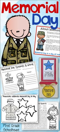 Memorial Day Activities and Craft. Activities to learn about and celebrate the holiday. Memorial Day Activities, Writing Activities, Craft Activities, Holiday Activities, Holiday Crafts, First Grade, Second Grade, Memorial Day Holiday, What Is Memorial Day