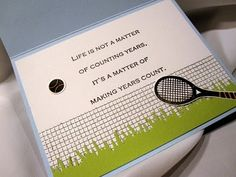 Creations by Patti: Tennis Bday Card