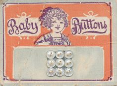 Vintage baby buttons